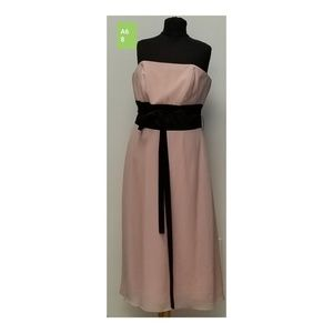 After 6 Sz 8 Blush and Black dress